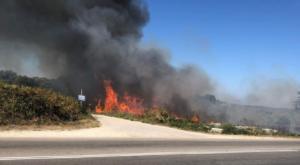 Φωτιά στην Πρέβεζα κοντά στον Αρχαιολογικό χώρο της Νικόπολης
