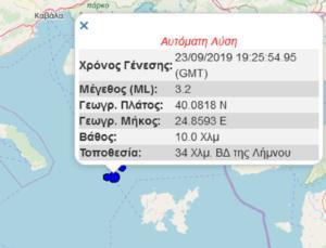 Σεισμός 3,2 Ρίχτερ κοντά στη Χαλκιδική