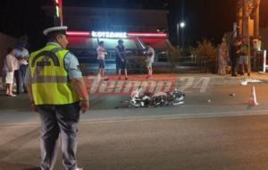 Πάτρα: Μηχανάκι «καρφώθηκε» σε αυτοκίνητο! Στο νοσοκομείο 20χρονος