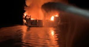 Καλιφόρνια: Ανατριχιαστικό ηχητικό από το σήμα κινδύνου στο φλεγόμενο σκάφος!