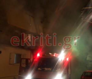 Κρήτη: Φωτιά σε διαμέρισμα στο Ηράκλειο – video
