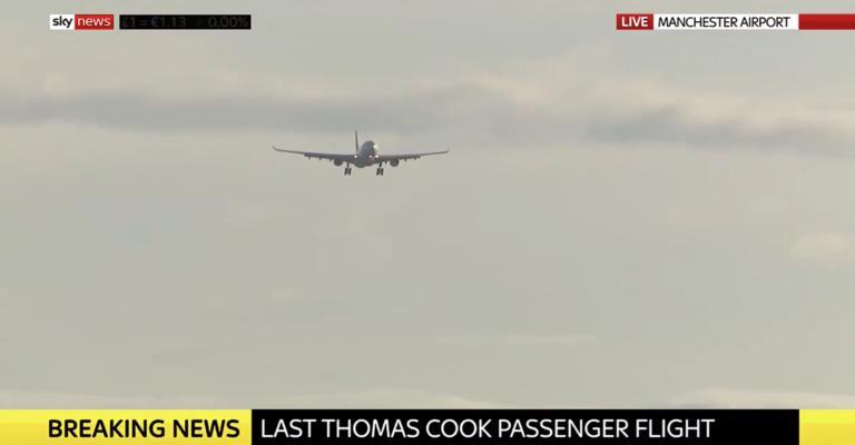 Thomas Cook: Αυτή είναι η τελευταία πτήση της πτωχευμένης εταιρείας