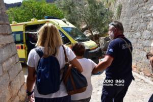 Ναύπλιο: Τουρίστρια τραυματίστηκε στο Παλαμήδι