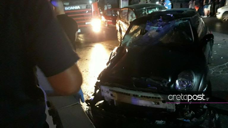 Ηράκλειο: Θανατηφόρο τροχαίο – Ένας νεκρός και τρεις τραυματίες