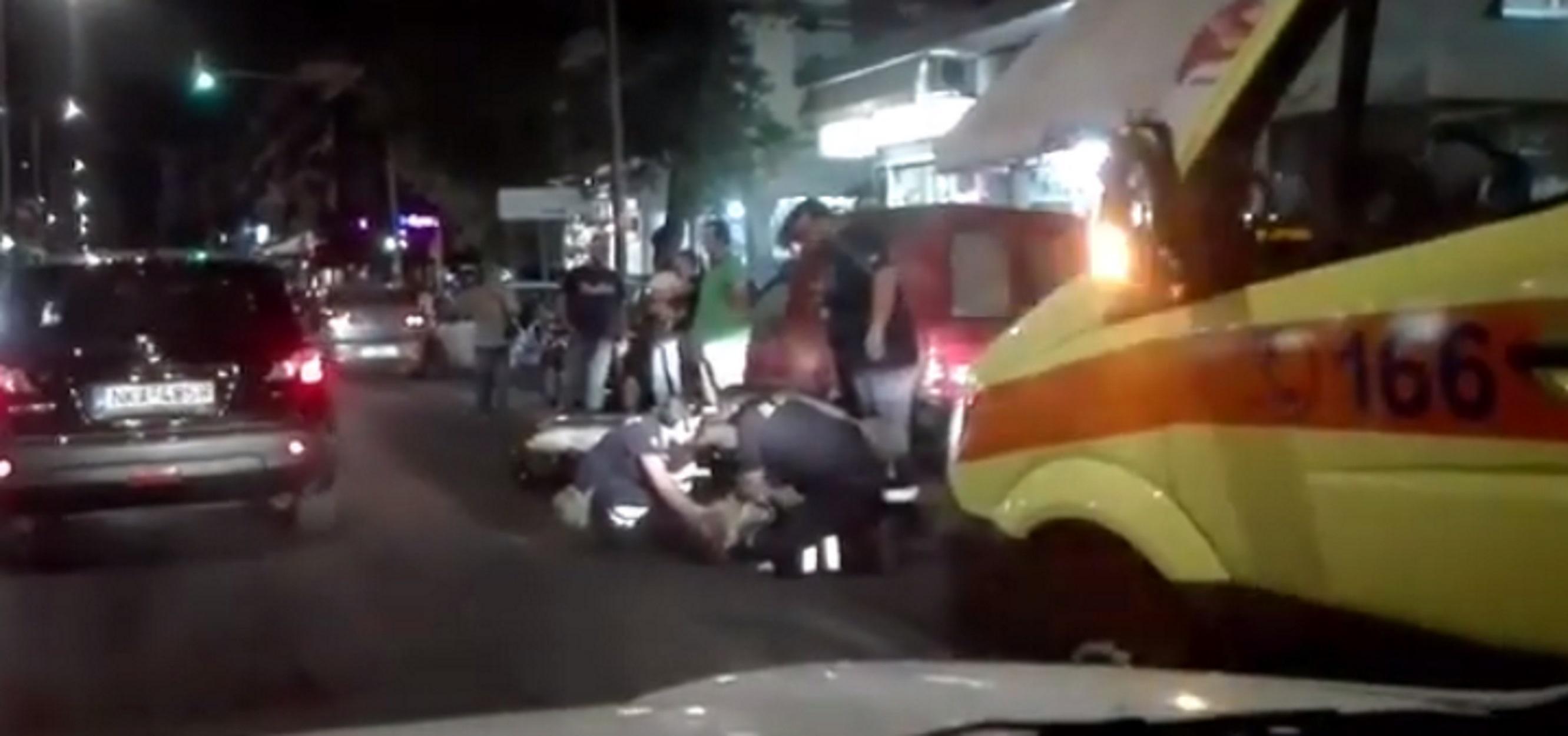 Αυτοκίνητο χτύπησε πεζό στην περιοχή Χαριλάου στη Θεσσαλονίκη! [pics, video]