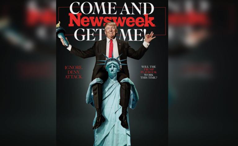 Ο Τραμπ «καβάλα» στο Άγαλμα της Ελευθερίας στο εξώφυλλο του Newsweek