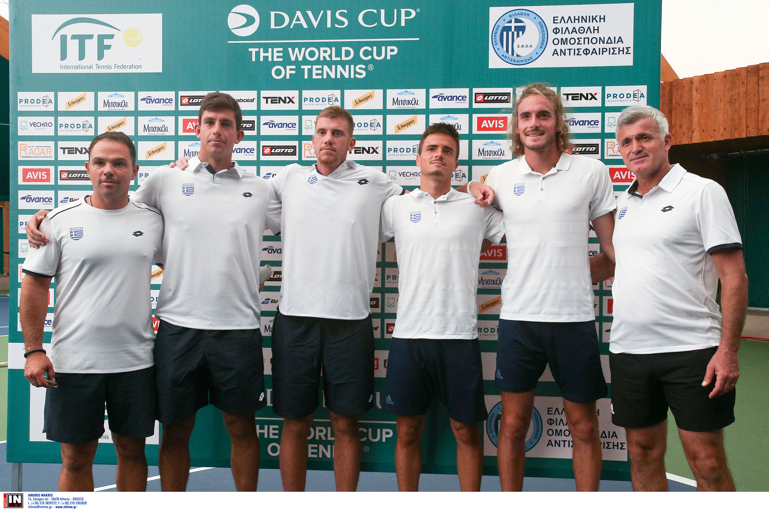 Davis Cup: Live Streaming η προσπάθεια της Εθνικής Ελλάδας και το ντεμπούτο του Στέφανου Τσιτσιπά