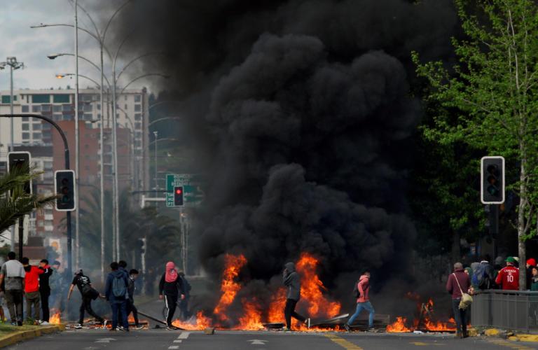 Έντεκα οι νεκροί από τις ταραχές στη Χιλή