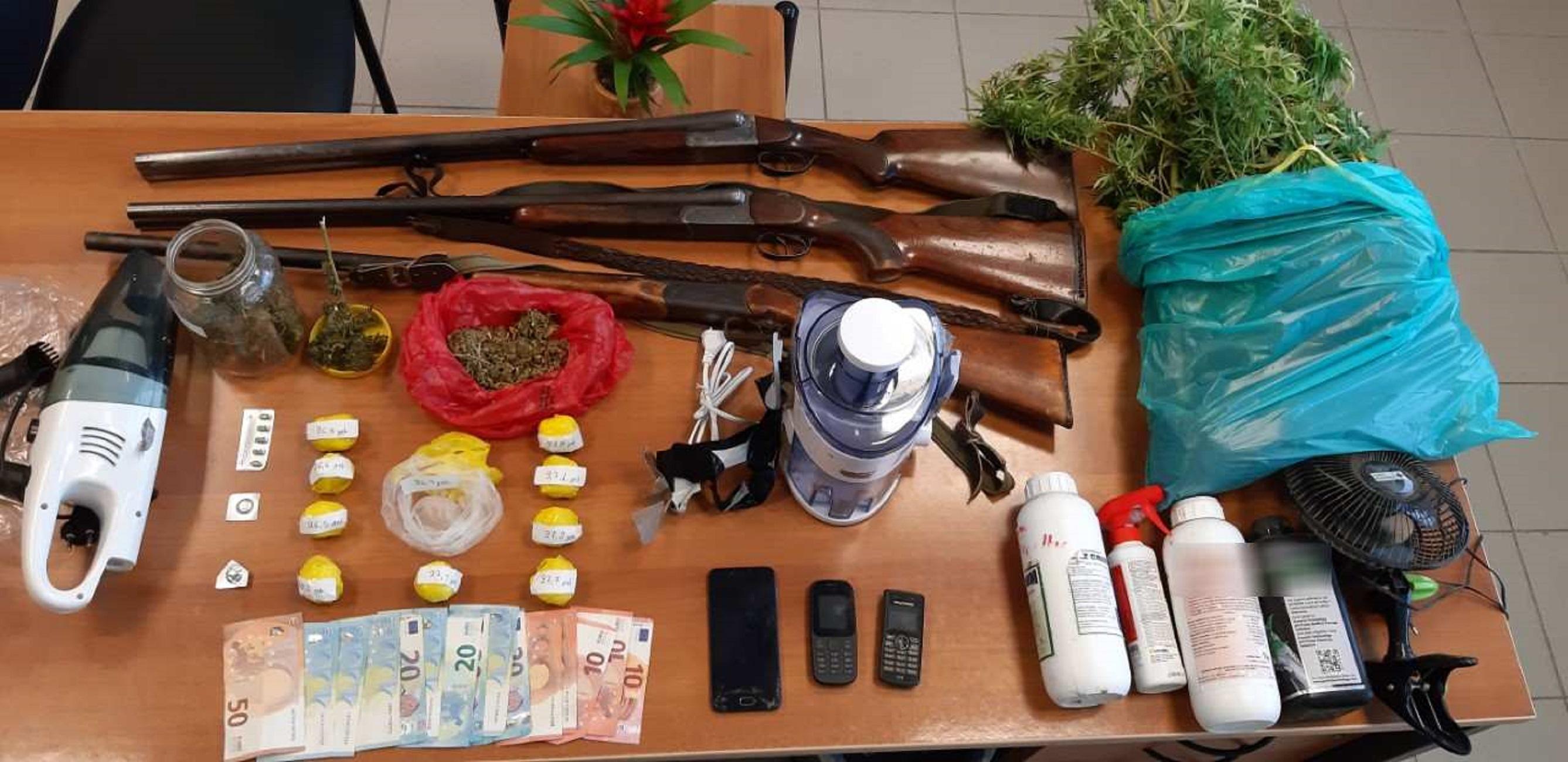 Συλλήψεις για ναρκωτικά και όπλα σε Ηράκλειο και Ρέθυμνο
