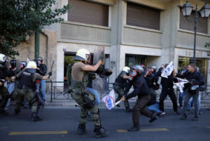 Επίσκεψη Πομπέο: Ένταση και χημικά στο κέντρο της Αθήνας [Pics]