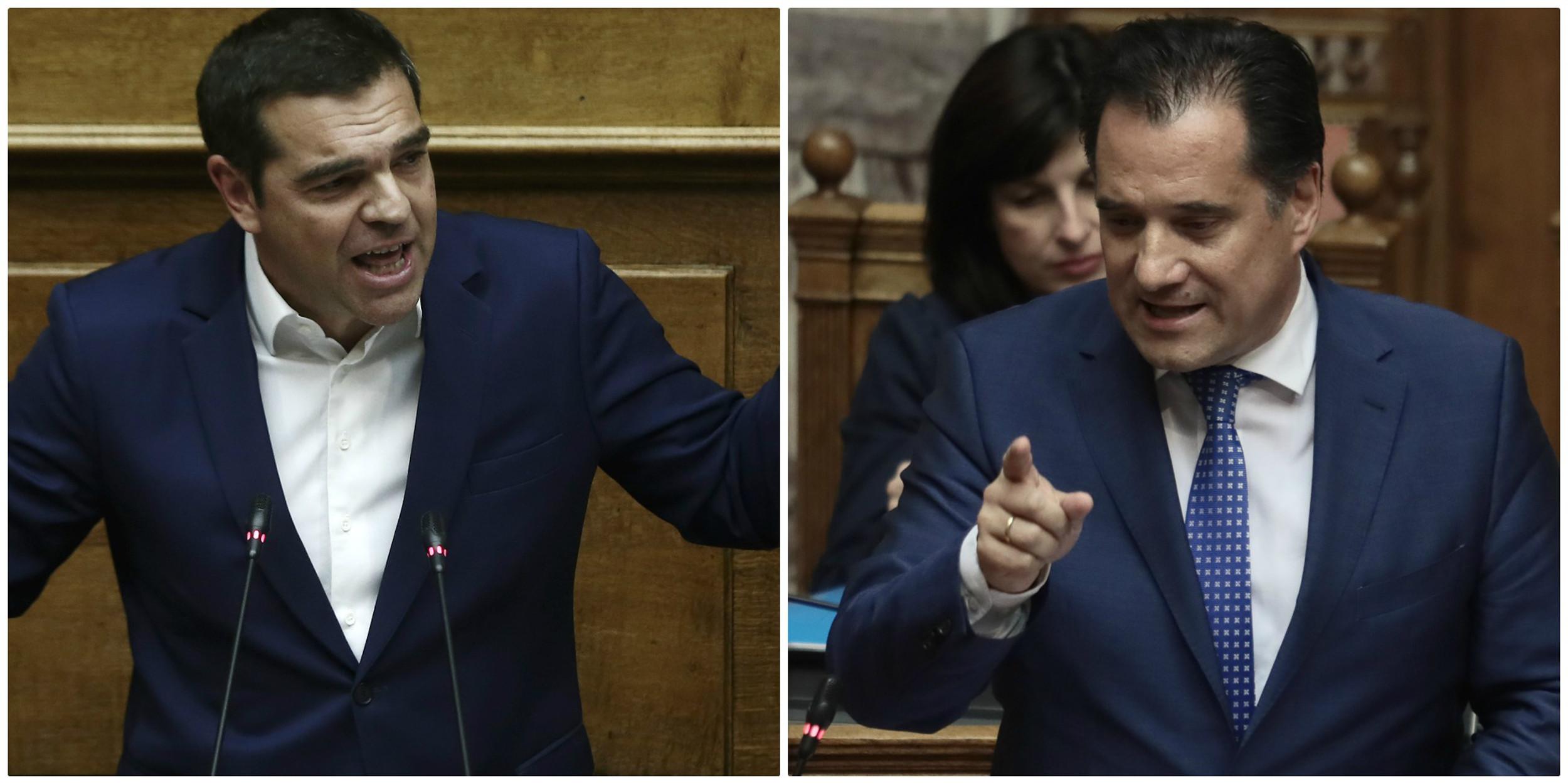 """Άγρια κόντρα Τσίπρα - Γεωργιάδη στην Βουλή - """"Είσαι ο Τζόκερ της πολιτικής"""" - """"Έδωσες παράσταση κι έφυγες"""""""