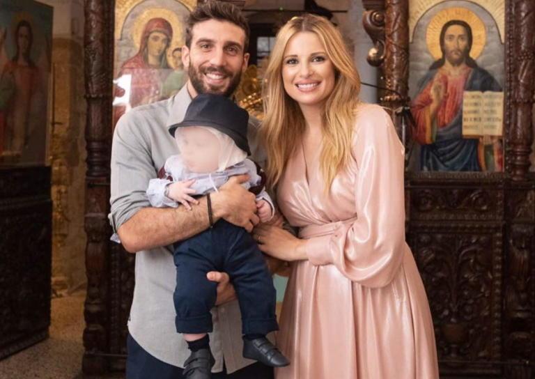 Χριστιάνα Αριστοτέλους – Γιώργος Εφραίμ: Νέες φωτογραφίες από τη βάφτιση του γιου τους!