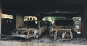 """Θεσσαλονίκη: Το γκαράζ της πολυκατοικίας έγινε """"νεκροταφείο"""" αυτοκινήτων – Αυτοψία μετά τη φωτιά – video"""