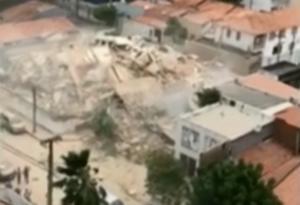 Τραγωδία στην Βραζιλία! Κατέρρευσε επταώροφο κτίριο – Ένας νεκρός