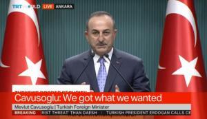 """""""Πανηγυρίζει"""" ο Τσαβούσογλου για την Συρία! """"Πήραμε αυτό που θέλαμε""""! video"""