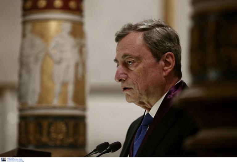 Τιμήθηκε ο Ντράγκι στην Αθήνα για τον ρόλο του στην ευρωπαϊκή κρίση χρέους