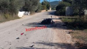 Νεκρός οδηγός μηχανής στην Κορινθία – Συγκρούστηκε με λεωφορείο [pic]