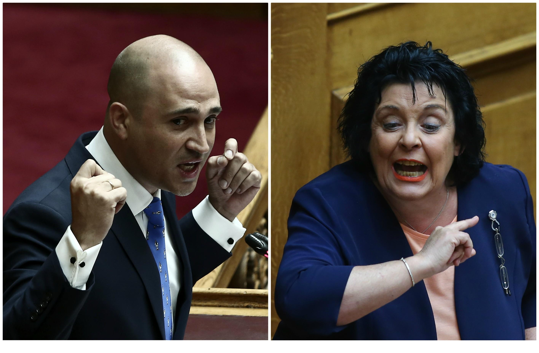 """""""Σκοτωμός"""" Κανέλλη - Μπογδάνου για τον διαδηλωτή του ΠΑΜΕ - """"Ρουφιανιλίκια και χαφιεδιλίκια"""" - """"Εγώ παίρνω περισσότερους σταυρούς"""""""