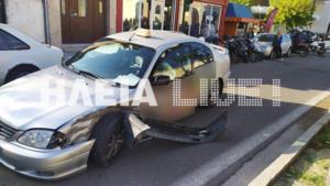 Πύργος: Καραμπόλα με δύο τραυματίες – Μεγάλες ζημιές σε τρία αυτοκίνητα και ένα ταξί [pics]