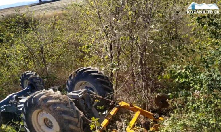 Κοζάνη: Φρικτός θάνατος αγρότη – Τον καταπλάκωσε το τρακτέρ και έπεσε σε ρέμα [pics]