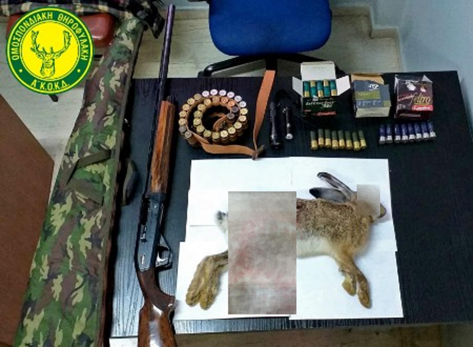 Κρήτη: Επεισοδιακή σύλληψη για κυνήγι λαγού