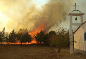 Ξάνθη: Μεγάλη φωτιά στη Μάνδρα