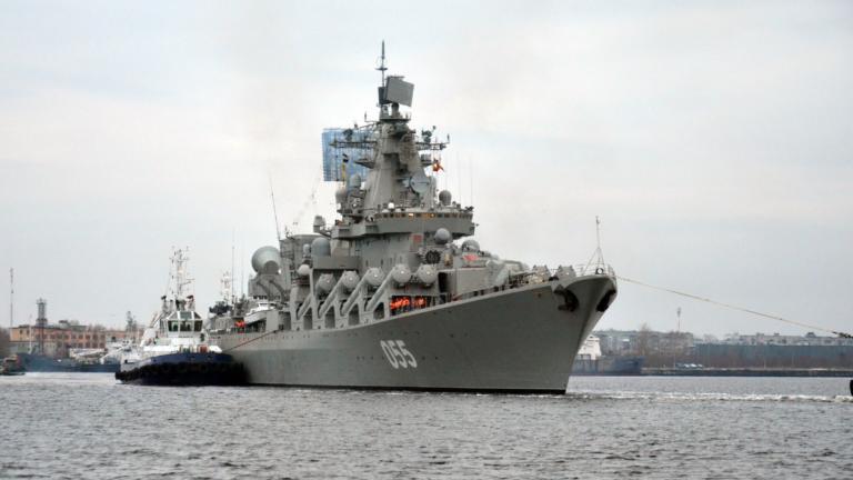 «Έπιασε» Πειραιά το ρωσικό καταδρομικό πλοίο «Στρατάρχης Ουστίνοφ»! [vid]