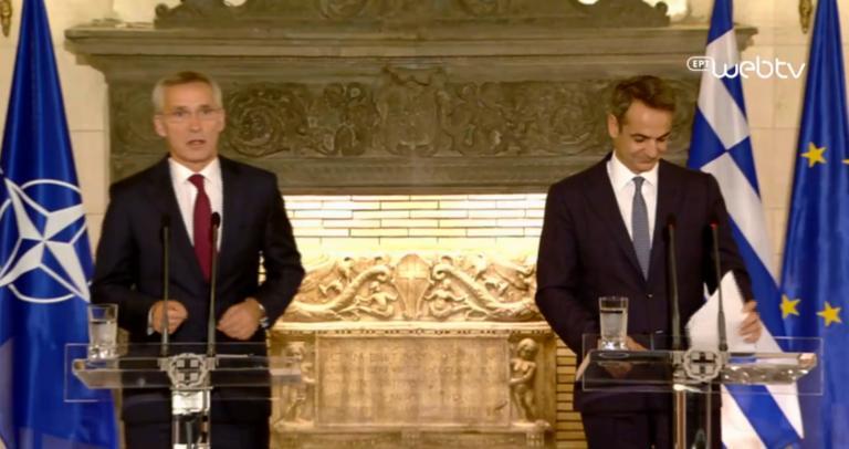 Μητσοτάκης – Στόλτενμπεργκ: Οι κοινές δηλώσεις στο Μαξίμου! video