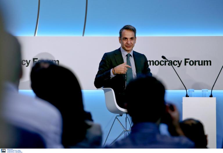 Μητσοτάκης στο Athens Democracy Forum: Θα έχουμε πλεόνασμα και θα δοθεί στους ασθενέστερους