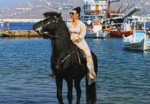 Μύκονος: Τα εκπληκτικά άλογα εντυπωσίασαν τους πάντες – Απίστευτες εικόνες στο κέντρο του νησιού – video