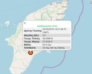 Σεισμός τώρα 4,5 Ρίχτερ ταρακούνησε τη Ρόδο!