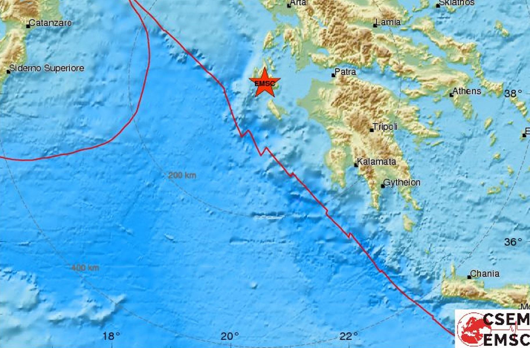 Σεισμός ταρακούνησε την Κεφαλονιά