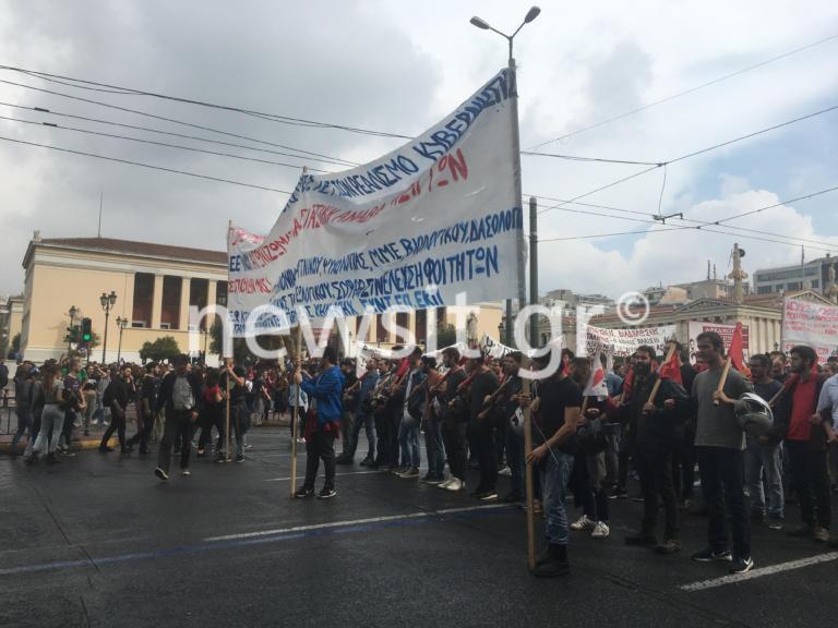Φοιτητικό συλλαλητήριο στην Αθήνα – Κλειστοί δρόμοι – video