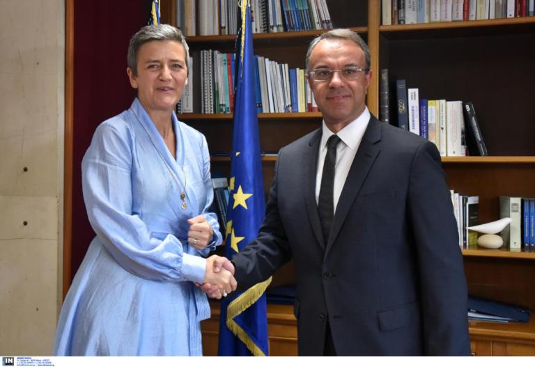 Συνάντηση Σταϊκούρα με την επίτροπο Ανταγωνισμού της Κομισιόν, Μαργκρέτε Βεστάγκερ