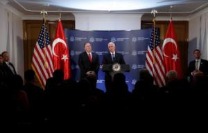 Κατάπαυση του πυρός για 120 ώρες στη Συρία συμφώνησαν Πενς και Ερντογάν