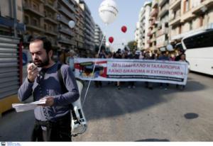 Διαμαρτυρία στη Θεσσαλονίκη για τα δρομολόγια του ΟΑΣΘ