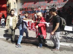 Θεσσαλονίκη: Έκαψαν σημαία των ΗΠΑ και έγραψαν συνθήματα κατά της επίσκεψης Πομπέο στην Ελλάδα – video