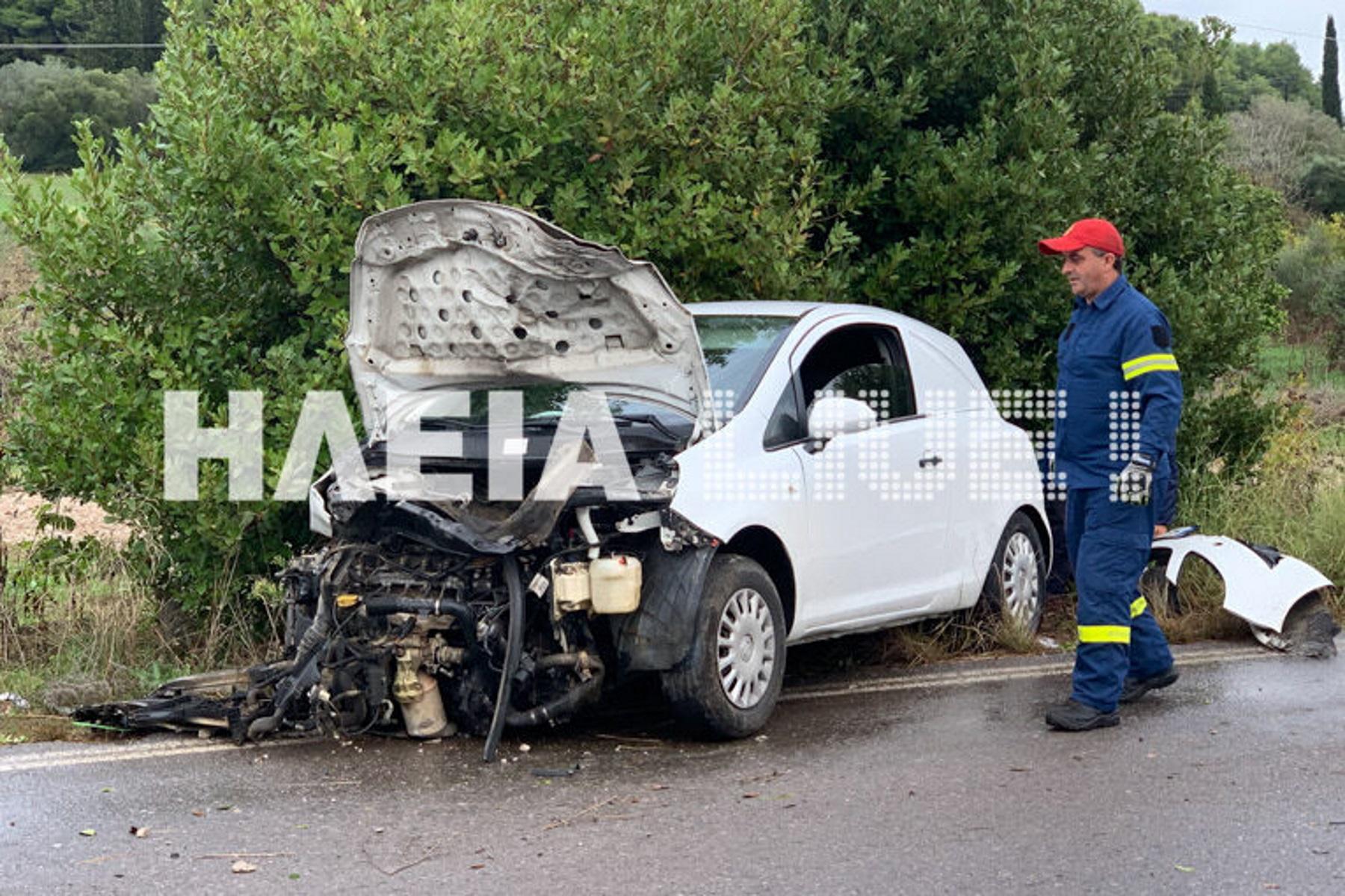 Ένας τραυματίας σε τροχαίο στην Ηλεία [pics]