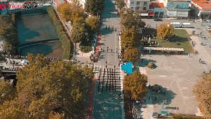 Η παρέλαση από ψηλά στα Τρίκαλα