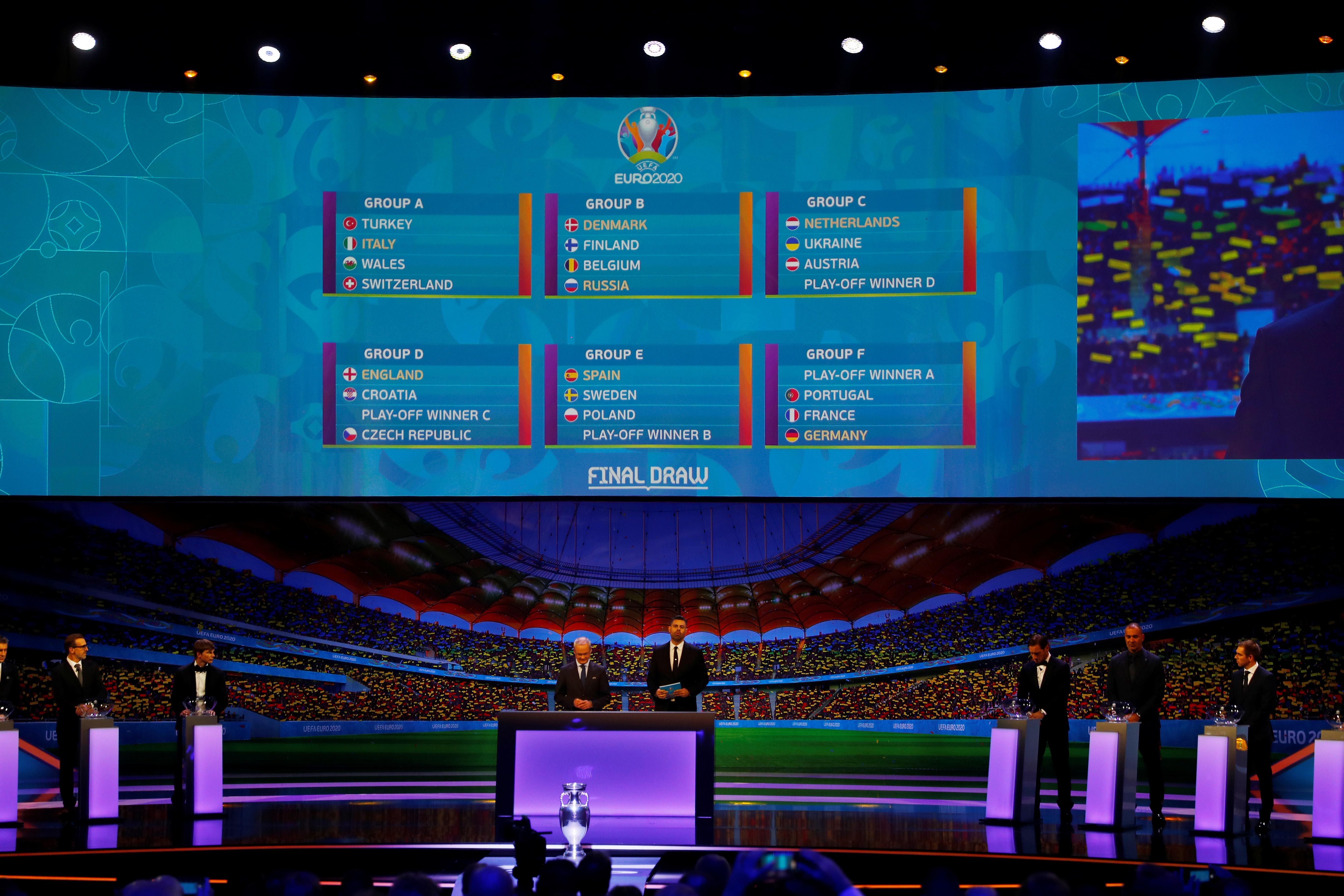 """Κλήρωση Euro 2020: Βγήκε όμιλος """"φωτιά""""! Δείτε τα 6 γκρουπ"""