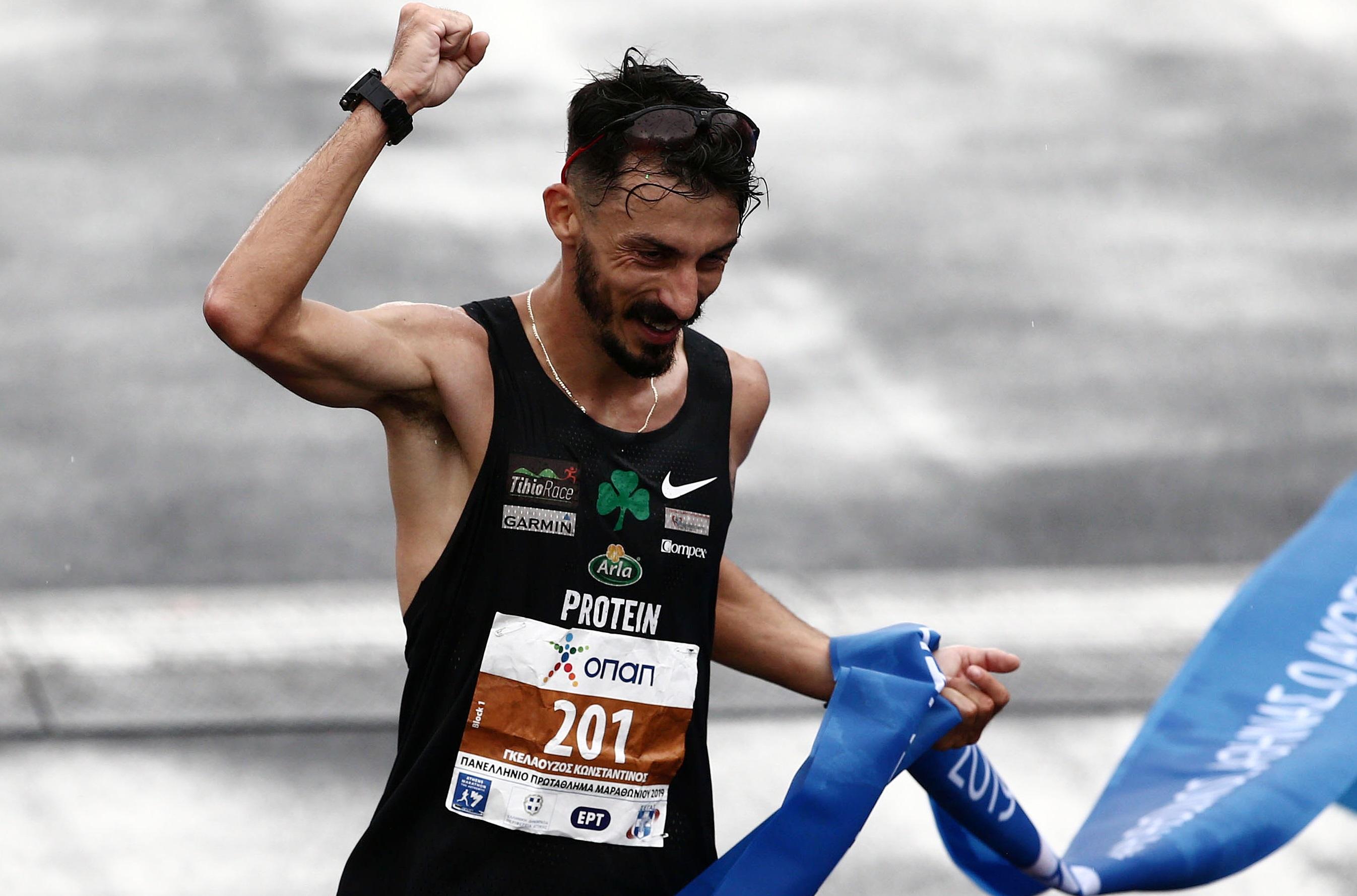 Μαραθώνιος 2019: 3ος και πρωταθλητής Ελλάδας ο Γκελαούζος! Αποθεώθηκε από φίλους του Παναθηναϊκού – video