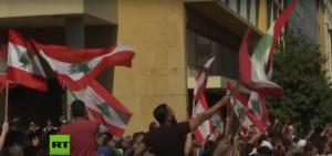 Λίβανος: Μαθητές και φοιτητές στις αντικυβερνητικές διαδηλώσεις – video