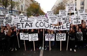 Γαλλία: «Όχι» στη βία εις βάρος των γυναικών – Διαδηλώσεις σε όλη τη χώρα