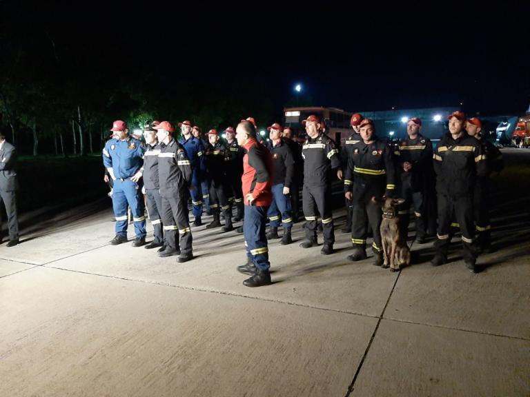 ΕΜΑΚ: Επέστρεψαν από την Αλβανία οι ηρωικοί πυροσβέστες