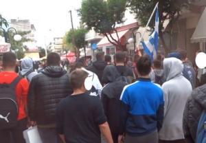 Γιαννιτσά: Πορεία μαθητών με ρατσιστικά συνθήματα [video]