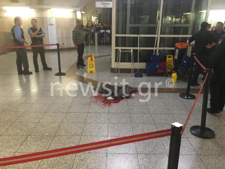 Μοναστηράκι: Άνδρας βρέθηκε μαχαιρωμένος στον σταθμό! [pics]