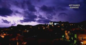 Αργολίδα: Η νύχτα στο Ναύπλιο έγινε μέρα και λίγες ώρες μετά αποκαλύφθηκαν αυτές οι εικόνες [pics, video]