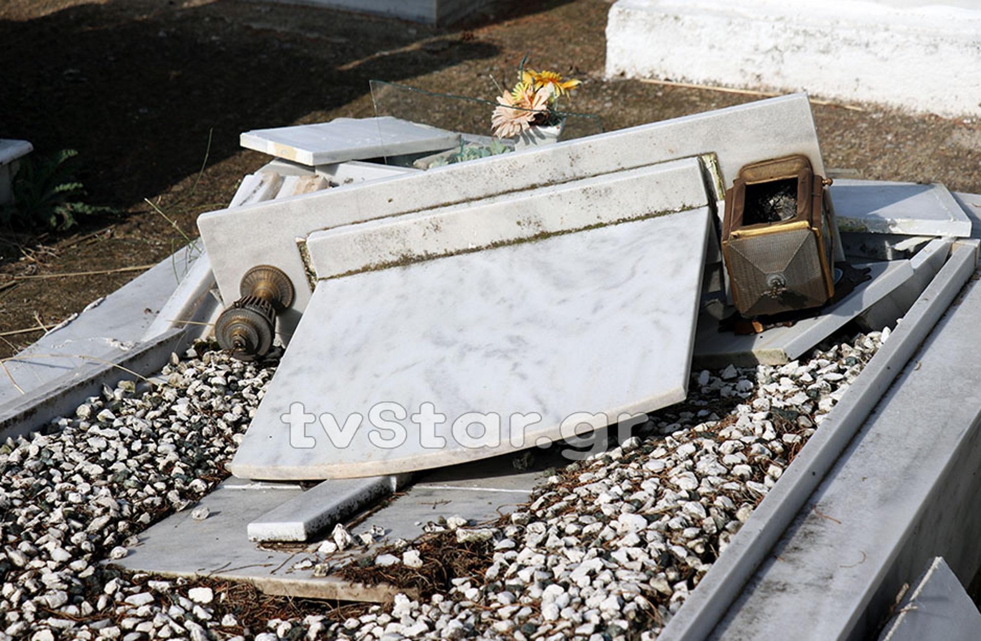 Φθιώτιδα: Βάνδαλοι χωρίς ιερό και όσιο – Οργή για τις εικόνες καταστροφής σε δύο νεκροταφεία – video