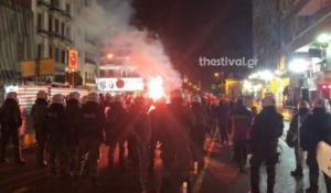 ΠΑΟΚ – Παναθηναϊκός: Πορεία των οπαδών προς την Τούμπα! – video