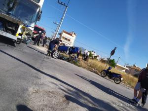 Μενίδι: Σφοδρότατη σύγκρουση λεωφορείου με αυτοκίνητο – Ένας τραυματίας